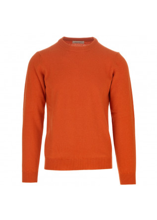 mens sweater wool and co orange