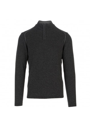 maglione uomo wool and co grigio scuro zip