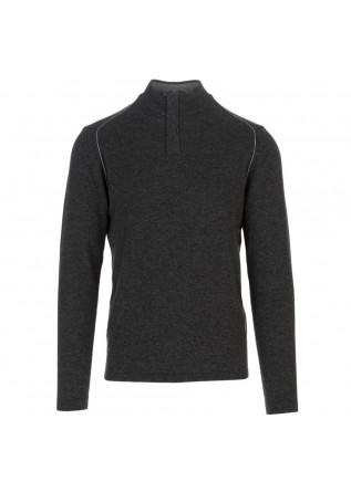 mens sweater wool and co dark grey zip
