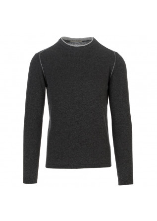 mens sweater wool and co dark grey