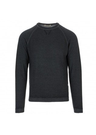 maglione uomo wool and co grigio scuro raglan