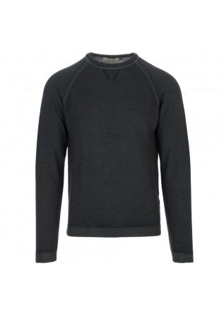 mens sweater wool and co dark grey raglan