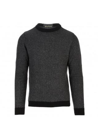 herrenpullover wool and co schwarz grau