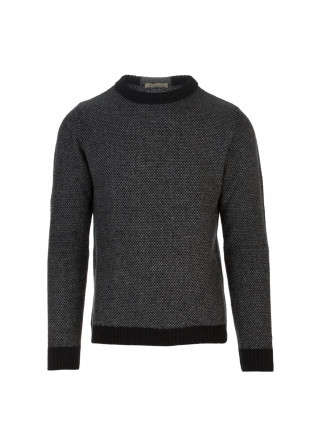 mens sweater wool and co black grey
