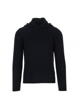 maglione uomo wool and co blu cappuccio