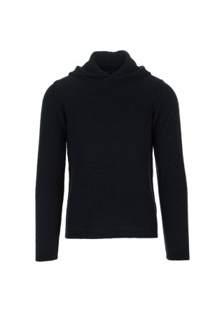 mens sweater wool and co blue hood