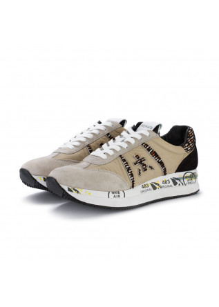 sneakers donna premiata conny beige nero
