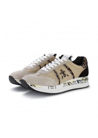 womens sneakers premiata conny beige black