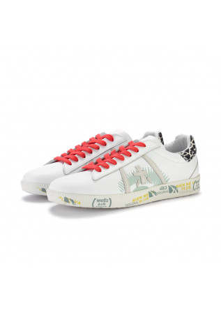 womens sneakers premiata andyd white red