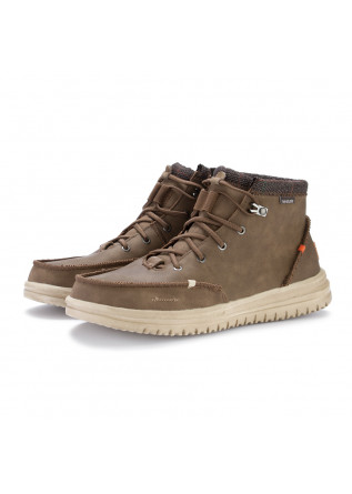 mens lace up boots hey dude bradley brown