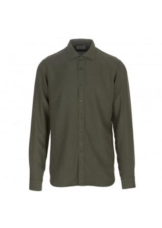 camicia uomo tintoria mattei 954 verde militare