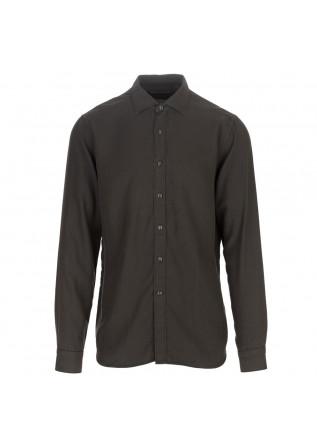 mens shirt tintoria mattei 954 brown