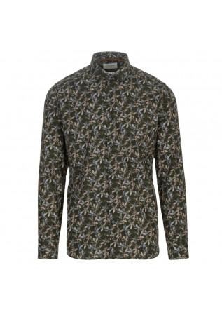 camicia uomo tintoria mattei 954 verde floreale