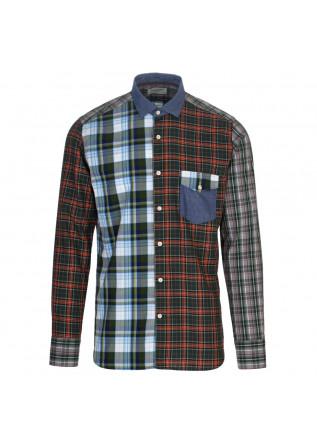 mens shirt tintoria mattei 954 multicolor checked