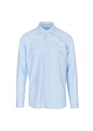camicia uomo tintoria mattei 954 azzurro