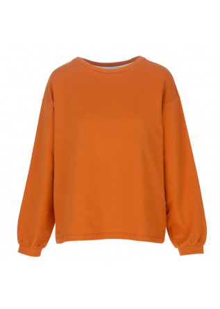 womens sweatshirt bioneuma ponza cin orange