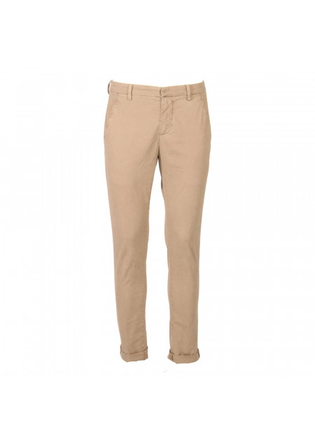 MEN'S CLOTHING TROUSERS BEIGE DONDUP