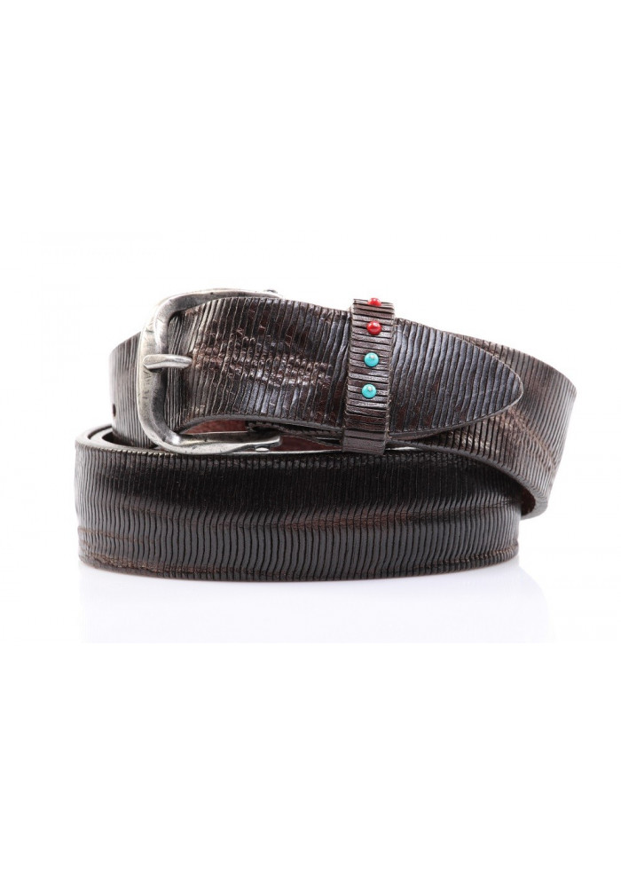 ACESSORIES BELTS DARK BROWN MINORONZONI 1953