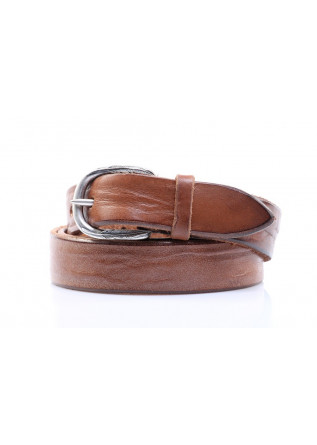 MEN'S BELT U 07453 MASCULINE HANDMADE BROWN ORCIANI