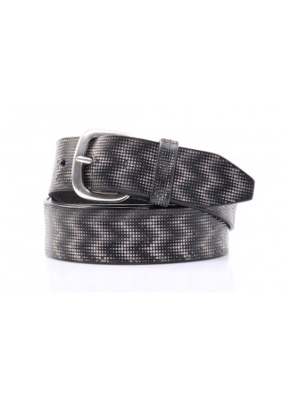 MEN'S BELT U 07510 MEXICO HANDMADE BLACK ORCIANI