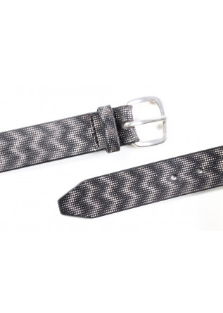 MEN'S ACCESSORIES BELT WITH ROUNDED BUCKLE HANDMADE BLACK ORCIANI