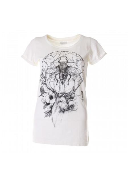 WOMEN'S CLOTHING T-SHIRTS WHITE DEER ALFRED BASHA