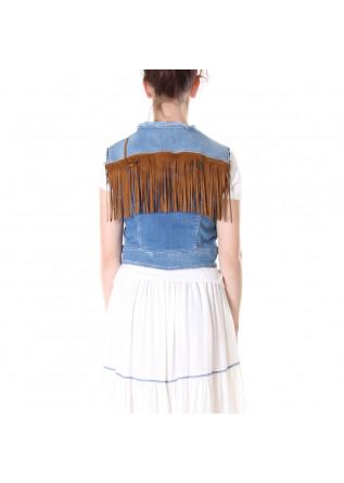 CLOTHING VESTS DENIM BLUE KOCCA