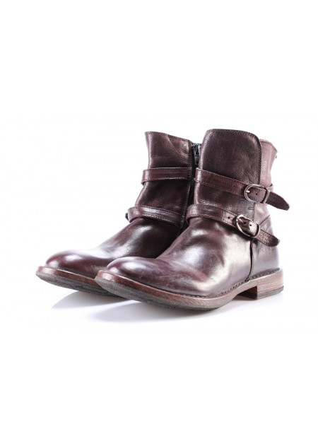WOMEN'S SHOES BOOTS BROWN BUCKLES MOMA