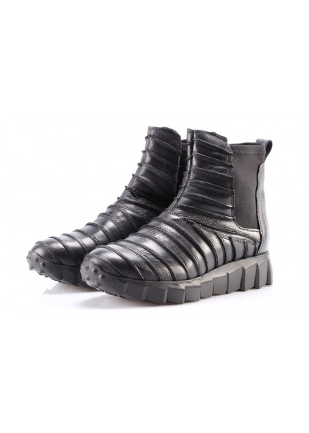 WOMEN'S SHOES BOOTS BLACK STRIPES ANDIAFORA