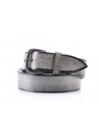 MEN'S ACCESSORIES BELT HANDMADE BLACK WHITE ORCIANI