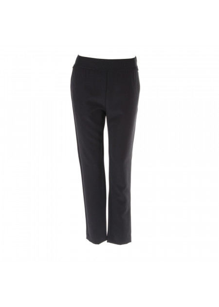 WOMEN'S CLOTHING TROUSERS REGULAR FIT BLACK KUBERA 108