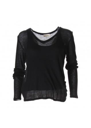 CLOTHING T-SHIRTS BLACK VISCOSE AMERICAN VINTAGE