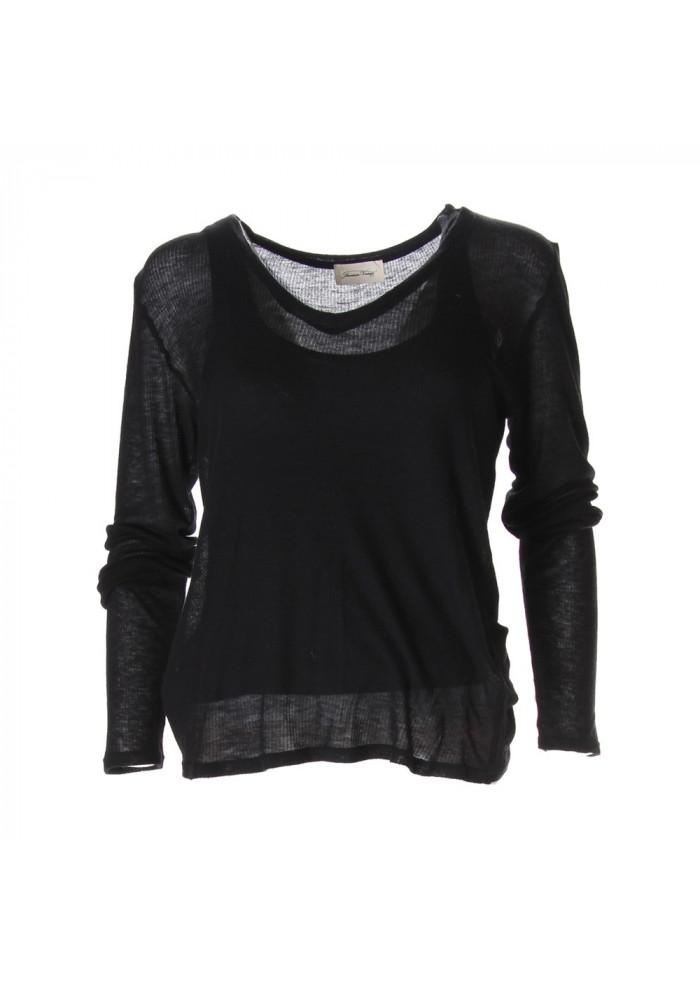 CLOTHING T-SHIRTS BLACK AMERICAN VINTAGE