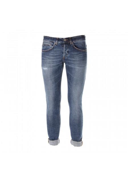 MEN'S CLOTHING JEANS SLIM FIT BLUE DONDUP
