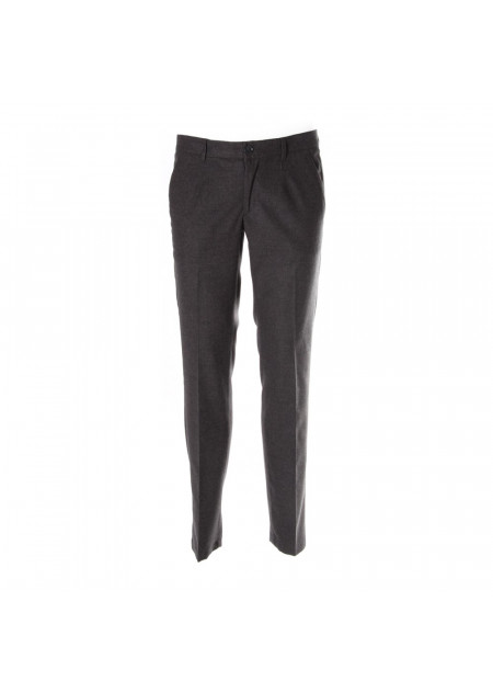 MEN'S CLOTHING TROUSERS GREY ALESSANDRO DELL'ACQUA