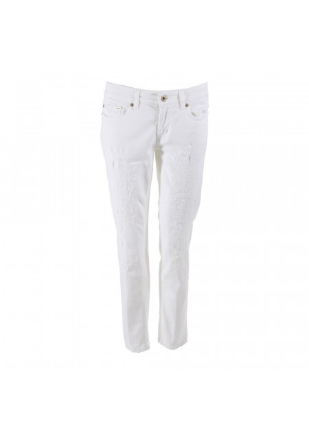 WOMEN'S CLOTHING JEANS WHITE DONDUP