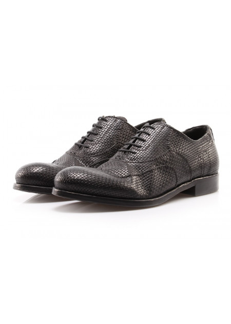MEN'S SHOES LACE UP LEATHER BLACK PAWELK'S