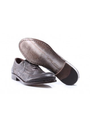MEN'S SHOES LACE-UP LEATHER CHOCOLATE BROWN PAWELK'S