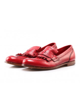 SHOES LOAFERS RED MOMA