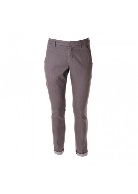 MEN'S CLOTHING TROUSERS GREY DONDUP
