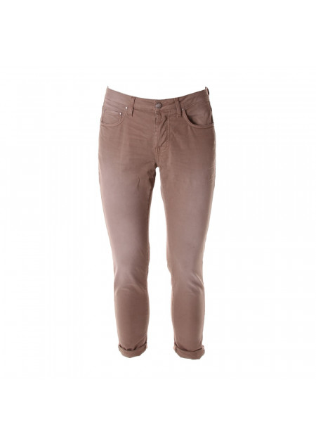 MEN'S CLOTHING TROUSERS BROWN AGLINI