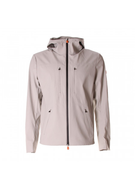 MEN'S CLOTHING JACKETS HOOD GREY SAVE THE DUCK